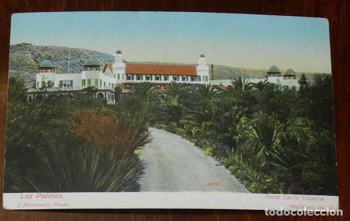 POSTAL DE LAS PALMAS, HOTEL SANTA CATALINA, PHOTO J. PERESTRELLO, N. 11, NO CIRCULADA. ESCRITA. (Postales - España - Canarias Antigua (hasta 1939))