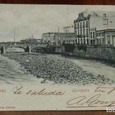 Postales: POSTAL DE LAS PALMAS, QUINIGADA, ED. METHARAM BROTHERS, REVERSO SIN DIVIDIR, CIRCULADA.. Lote 173202447