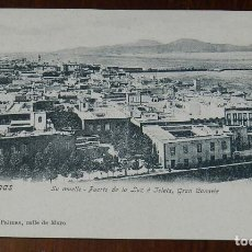 Postales: POSTAL DE LAS PALMAS, SU MUELLE, PUERTO DE LA LUZ E ISLETA, EDIT. MARIA QUESADA, NO CIRCULADA, SIN D. Lote 173203203