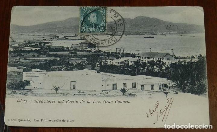 POSTAL DE GRAN CANARIA, ISLETA Y ALREDEDORES DEL PUERTO DE LA LUZ, GRAN CANARIA, EDIT. MARIA QUESADA (Postales - España - Canarias Antigua (hasta 1939))