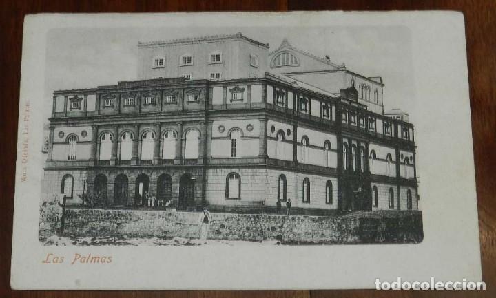 POSTAL DE LAS PALMAS GRAN CANARIA, TEATRO PÉREZ GALDÓS, NO CIRCULADA, SIN DIVIDIR, ED. MARIA QUESADA (Postales - España - Canarias Antigua (hasta 1939))