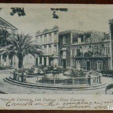 Postales: POSTAL DE CANARIAS. PLAZA DE CAIRASCO. LAS PALMAS. GRAN CANARIA. ED. MARIA QUESADA. CALLE DEL MURO. . Lote 173365642