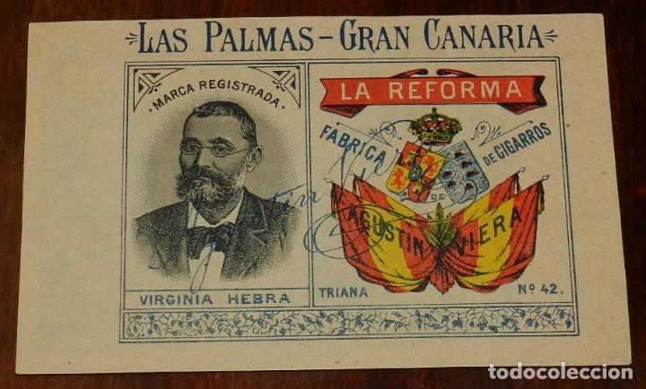 POSTAL DE LA REFORMA, FÁBRICA DE TABACO, AGUSTÍN VIERA, LAS PALMAS DE GRAN CANARIA, TRIANA 42, NO CI (Postales - España - Canarias Antigua (hasta 1939))