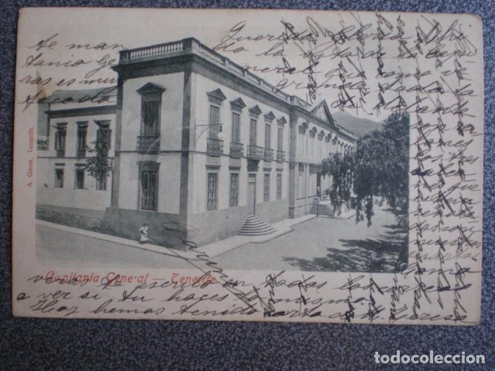 TENERIFE CAPITANÍA GENERAL POSTAL CIRCULADA EN 1902 (Postales - España - Canarias Antigua (hasta 1939))