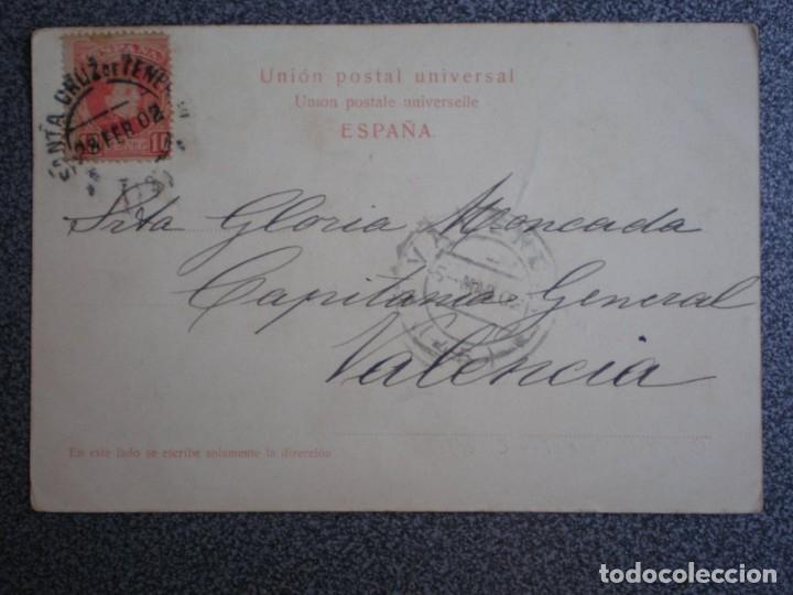 Postales: TENERIFE CAPITANÍA GENERAL POSTAL CIRCULADA EN 1902 - Foto 2 - 174543183