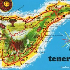 Cartoline: TENERIFE -MAPA DE LA ISLA- (EDICIONES GASTEIZ Nº 2899) SIN CIRCULAR / P-5523. Lote 175040392