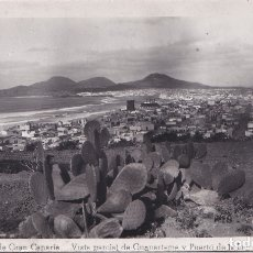 Postales: LAS PALMAS DE GRAN CANARIA (CANARIAS) - VISTA PARCIAL DE GUANARTEME Y PUERTO DE LA LUZ. Lote 175255538