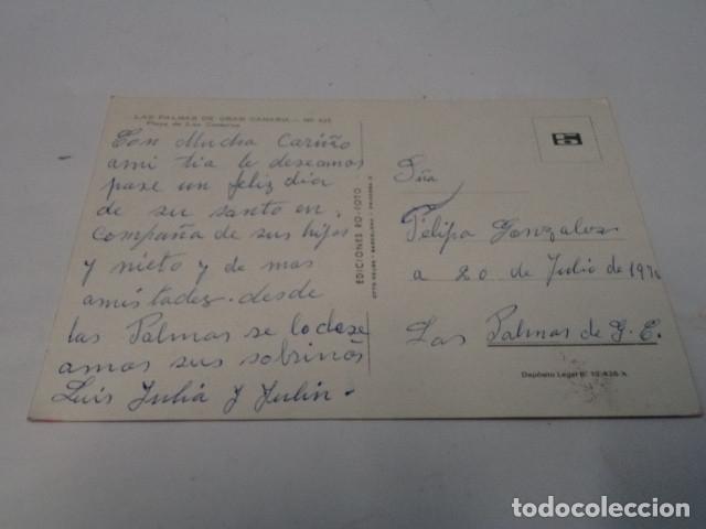 Postales: GRAN CANARIA - POSTAL LAS PALMAS - PLAYA DE LAS CANTERAS - Foto 2 - 176349105
