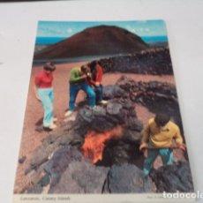 Postales: LANZAROTE - POSTAL MONTAÑA DEL FUEGO. Lote 176349824