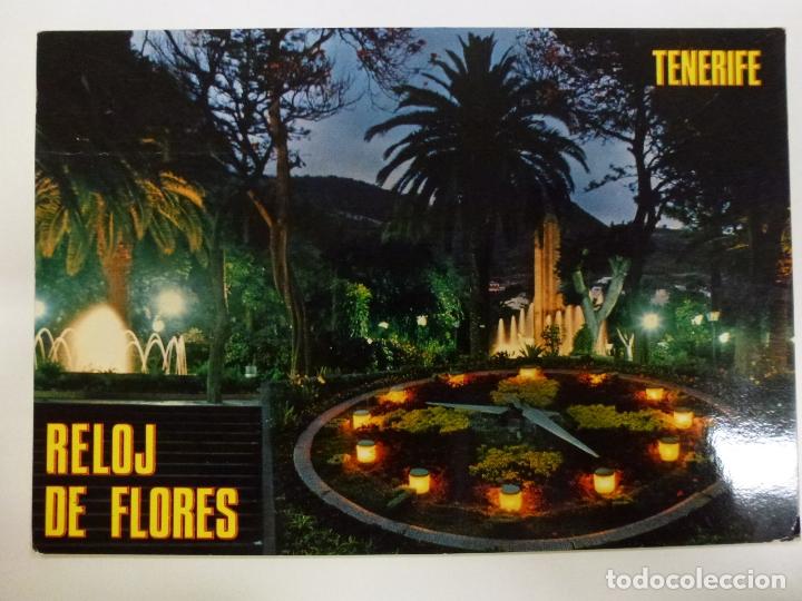 POSTAL. SANTA CRUZ DE TENERIFE. RELOJ DE FLORES DEL PARQUE MUNICIPAL. EUROAFRICANA DE CANARIAS. (Postales - España - Canarias Moderna (desde 1940))