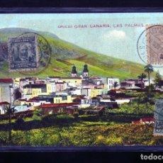 Postales: ANTIGUA POSTAL DE ARUCAS G.C.CIRCULADA PARA INTERCANVIO FILATELICO SELLOS 1909 COMO CABO VERDE....... Lote 177001513