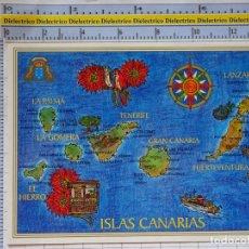 Postais: POSTAL DE TENERIFE. AÑO 1997. MAPA DE LAS ISLAS. 2276. Lote 177211307