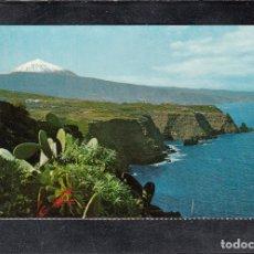 Postales: TENERIFE. PAISAJE CON TEIDE Y MAR. Lote 177305309