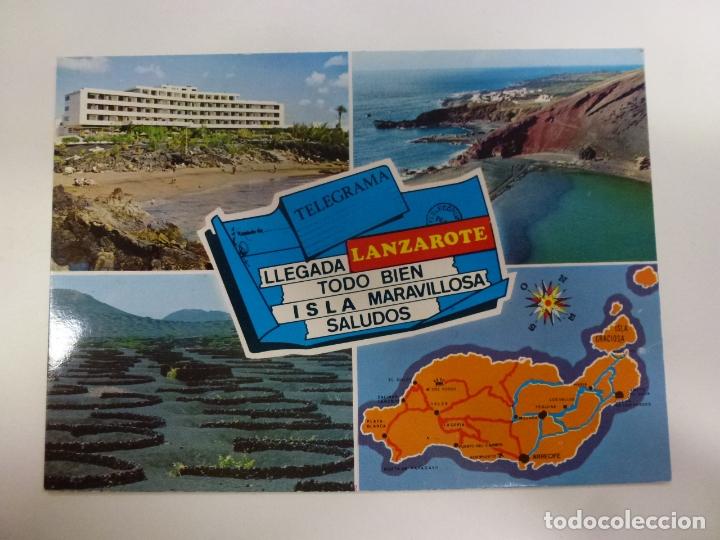 POSTAL. LANZAROTE. ISLA DE LOS VOLCANES. COLECCIÓN LAS AFORTUNADAS. NO ESCRITA. (Postales - España - Canarias Moderna (desde 1940))