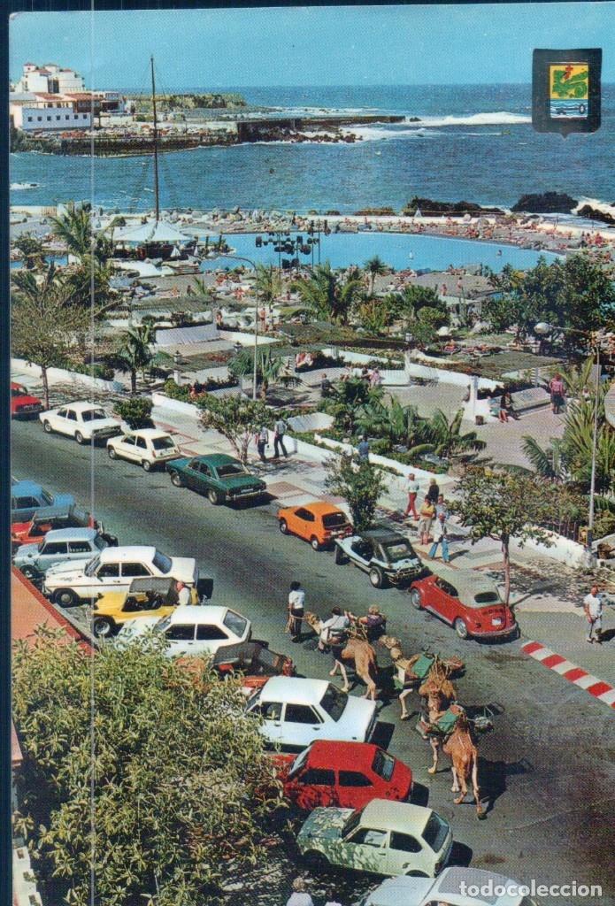 POSTAL PUERTO DE LA CRUZ TENERIFE DETALLE DE LA AVENIDA COLON- ESCUDO DE ORO Nº75 - CIRCULADA (Postales - España - Canarias Moderna (desde 1940))