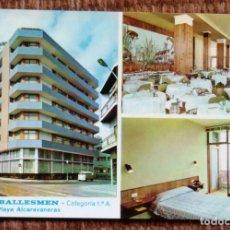 Postales: HOTEL BALLESMEN - PLAYA ALCARAVANERAS - LAS PALMAS DE GRAN CANARIA. Lote 179089238
