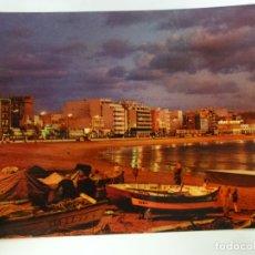 Postais: POSTAL. LAS PALMAS DE GRAN CANARIA. VISTA NOCTURNA PLAYA DE LAS CANTERAS. ED. CASA HAMBURGO.. Lote 179141358