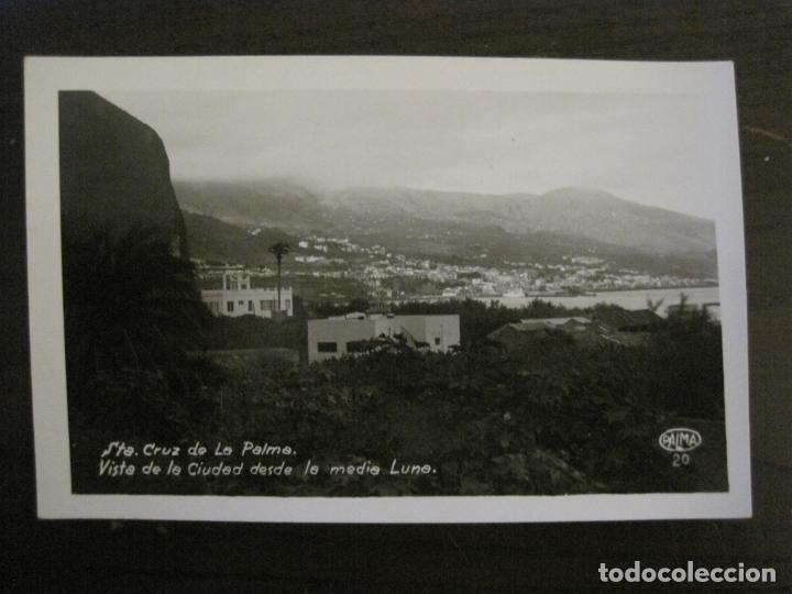 SANTA CRUZ DE LA PALMA-CIUDAD DESDE LA MEDIA LUNA-FOTOGRAFICA PALMA 20-VER FOTOS-(63.127) (Postales - España - Canarias Antigua (hasta 1939))