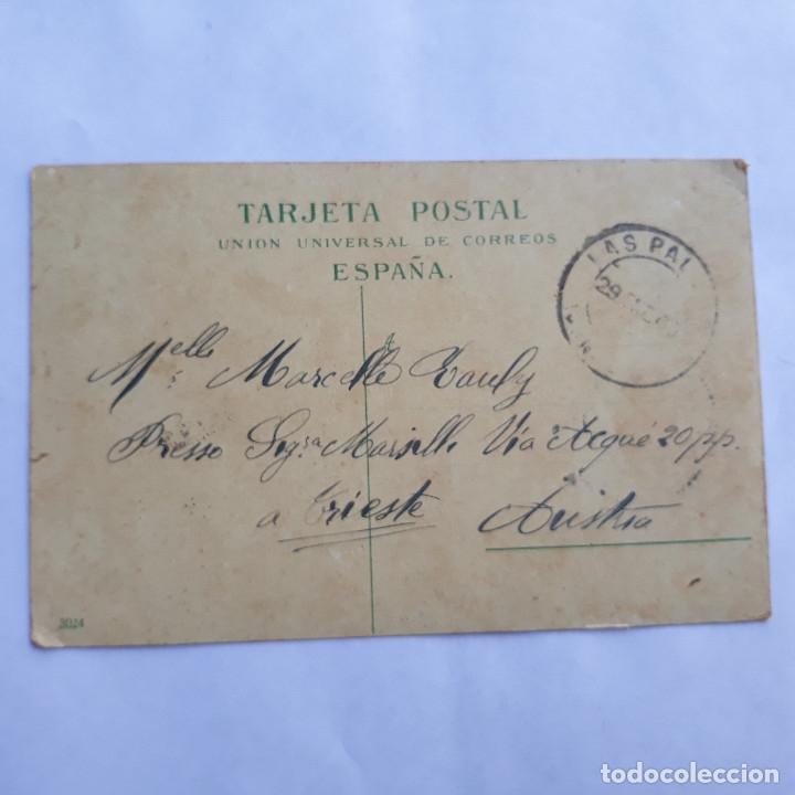 Postales: Teror. Las Palmas. Bazar alemán. Circulada. - Foto 2 - 179341883