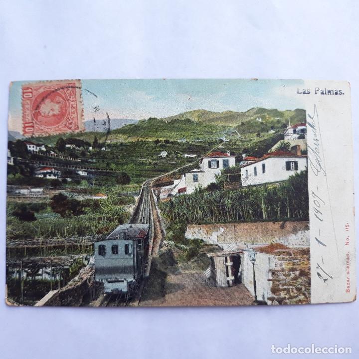 LAS PALMAS. BAZAR ALEMÁN. CIRCULADA (Postales - España - Canarias Antigua (hasta 1939))