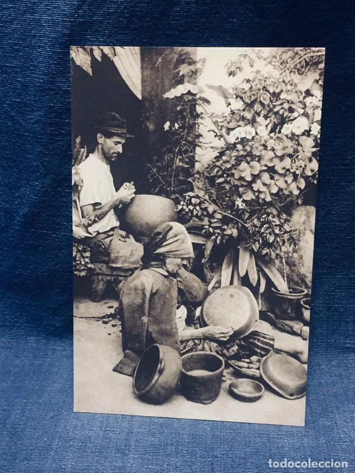GRAN CANARIA ALFAREROS FOTO VALLMITJANA ED SINDICATO DE INICIATIVA DE GRAN CANARIA (Postales - España - Canarias Antigua (hasta 1939))