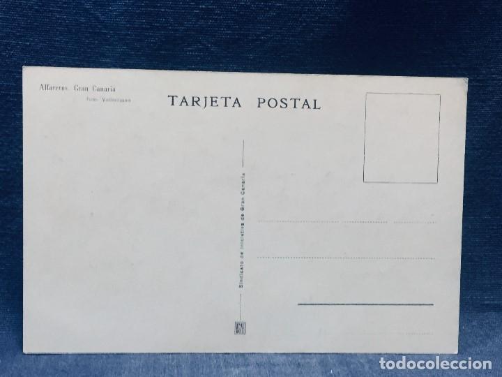 Postales: GRAN CANARIA ALFAREROS FOTO VALLMITJANA ED SINDICATO DE INICIATIVA DE GRAN CANARIA - Foto 2 - 179375932