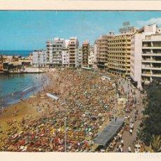 Postales: POSTAL PLAYA DE LAS CANTERAS. LAS PALMAS DE GRAN CANARIA (1970). Lote 180034905