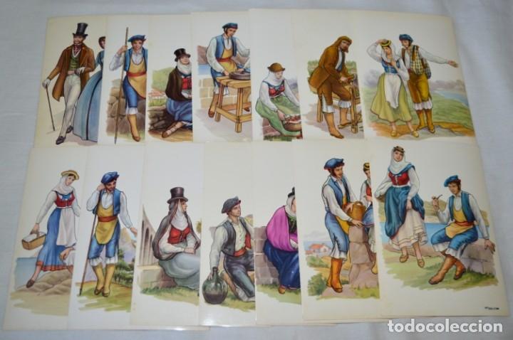 SERIE DE 14 POSTALES - LA PALMA / TRAJE TÍPICO - ANTIGUAS, BUEN ESTADO, SIN CIRCULAR - ¡MIRA FOTOS! (Postales - España - Canarias Moderna (desde 1940))