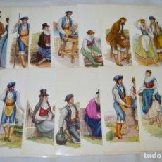 Postales: SERIE DE 14 POSTALES - LA PALMA / TRAJE TÍPICO - ANTIGUAS, BUEN ESTADO, SIN CIRCULAR - ¡MIRA FOTOS!. Lote 180339602