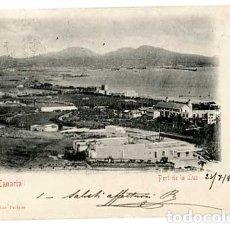 Postales: GRAN CANARIA PORT DE LA LUZ ED. BAZAR ALEMAN. REVERSO SIN DIVIDIR. CIRCULADA. Lote 180884381