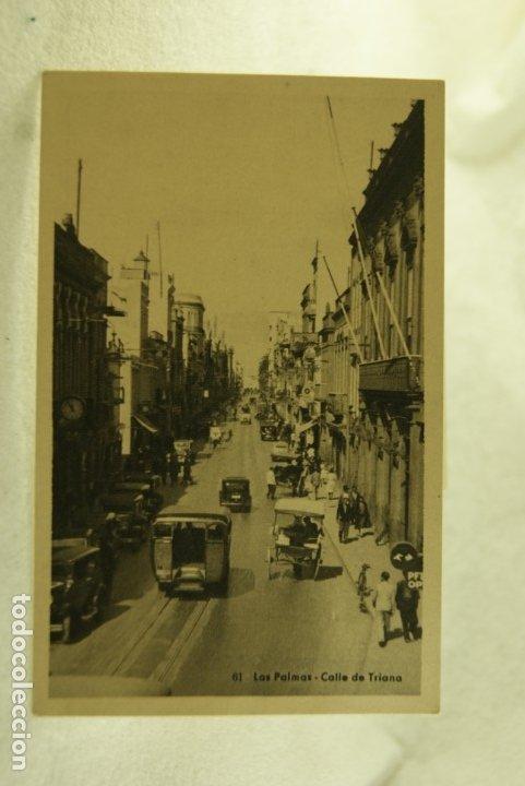 LAS PALMAS CALLE DE TRIANA COCHES ANIMMADA BAZAR ALEMAN (Postales - España - Canarias Antigua (hasta 1939))