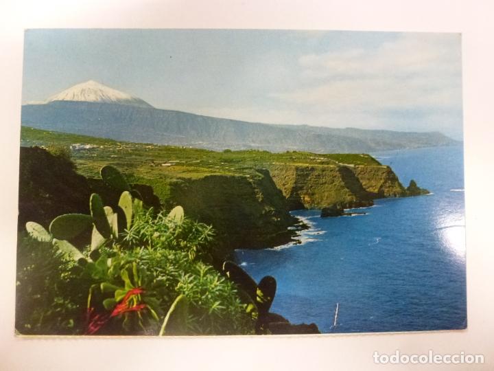 POSTAL. TENERIFE. PAISAJE CON TEIDE Y MAR. ED. FARDI. NO ESCRITA. (Postales - España - Canarias Moderna (desde 1940))