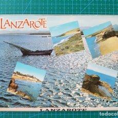 Postales: BLOC DESPLEGABLE DE 10 POSTALES DE LANZAROTE/ISLAS CANARIAS - OTTO REUS. Lote 181606178