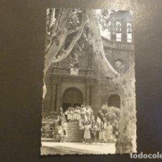 Postales: PUERTO DE LA CRUZ TENERIFE GRUPO DE CHICAS DEL SEU ANTE IGLESIA POSTAL FOTOGRAFICA BAEZA FOTOG. Lote 182169628