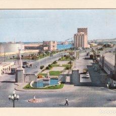 Postales: POSTAL ENTRADA MUELLES PUERTO DE LA LUZ. LAS PALMAS DE GRAN CANARIA (1959). Lote 182399325