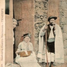 Postales: MUY RARA UNIQUE TIPOS CANARIOS SASTRERIA CUATRO NACIONES TENERIFE GRAN CANARIA.. Lote 182573771