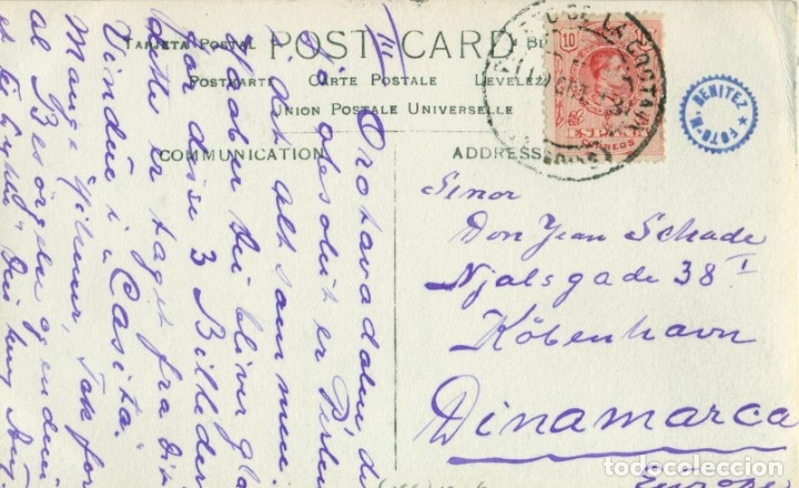Postales: TENeRIFE PUERTO DE LA OROTAVA. CIRCULADA EN 1913. FOTO A. BENITEZ. PIEZA ÚNICA. - Foto 2 - 182642470