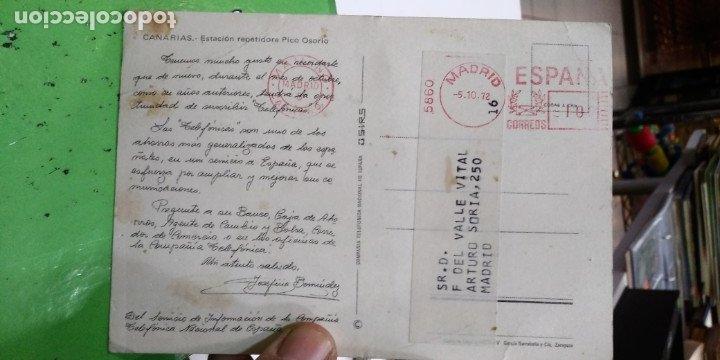 Postales: Postal Canarias Rstacion repetidora Pico Osorio 1972 - Foto 2 - 182780860