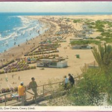 Postales: PLAYA DE INGLÉS (GRAN CANARIA) - ISLAS CANARIAS - PHOTO D. NOBLE. Lote 182890232