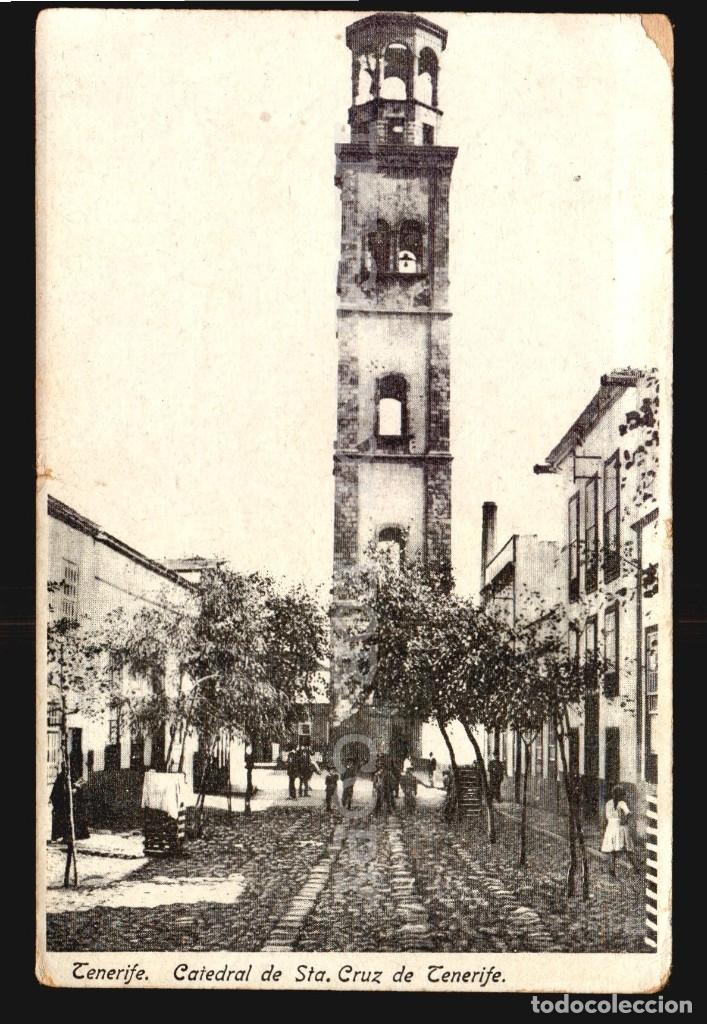 TENERIFE CATEDRAL DE STA CRUZ DE TENERIFE ANTIGUA POSTAL EDICION N°22 ANIMADA (Postales - España - Canarias Antigua (hasta 1939))