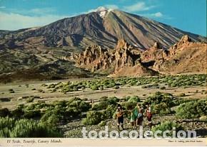 CANARIAS - TENERIFE - VISTA DEL TEIDE - SIN CIRCULAR (Postales - España - Canarias Antigua (hasta 1939))