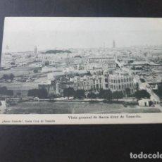Postales: SANTA CRUZ DE TENERIFE VISTA GENERAL. Lote 183431352