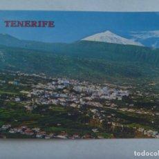 Postales: POSTAL DE TENERIFE ( ISLAS CANARIAS ): VALLE DEL OROTAVA, AL FONDO EL TEIDE . AÑOS 60. Lote 183438126
