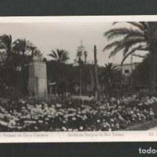 Postales: LAS PALMAS DE GRAN CANARIA 68 - JARDINES PARQUE DE SAN TELMO - EDITA ARRIBAS. Lote 183446882