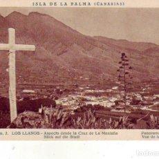 Cartes Postales: TENERIFE- SANTA CRUZ DE LA PALMA - LOS LLANOS DESDE LA CRUZ DE LA MONTAÑA. Lote 183476058