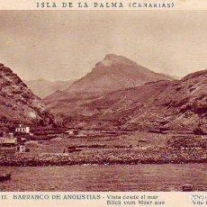 Cartes Postales: TENERIFE- SANTA CRUZ DE LA PALMA - BARRANCO DE LAS ANGUSTIAS. Lote 183477120