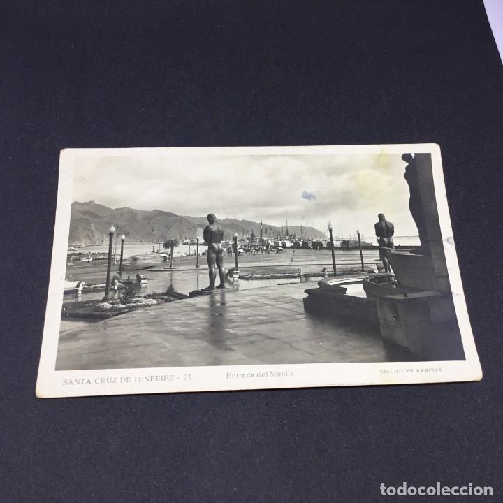 ANTIGUA POSTAL SANTA CRUZ DE TENERIFE - ENTRADA DEL MUELLE - Nº 21 - EDICIONES ARRIBAS -SIN CIRCULAR (Postales - España - Canarias Antigua (hasta 1939))