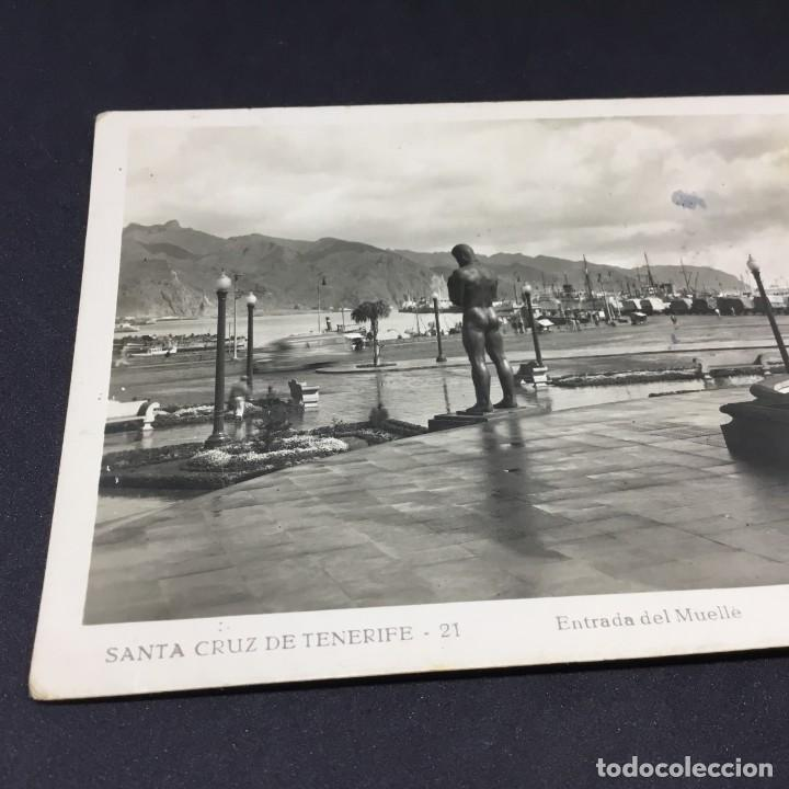 Postales: ANTIGUA POSTAL SANTA CRUZ DE TENERIFE - ENTRADA DEL MUELLE - Nº 21 - EDICIONES ARRIBAS -SIN CIRCULAR - Foto 2 - 183484643