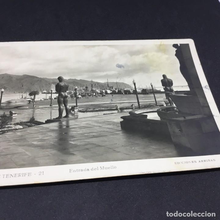 Postales: ANTIGUA POSTAL SANTA CRUZ DE TENERIFE - ENTRADA DEL MUELLE - Nº 21 - EDICIONES ARRIBAS -SIN CIRCULAR - Foto 3 - 183484643