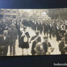 Postales: LAS PALMAS DE GRAN CANARIA DESFILE DE AUTORIDADES POSTAL FOTOGRAFICA FOTOGRAFIA ALEMANA HACIA 1920. Lote 183523131